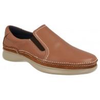 Zapato Sport Cómodo Piel Camel.