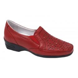 Zapato Cómodo Mujer Piel Rojo. S@kut.