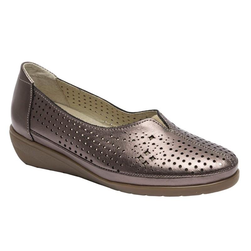 Zapato Cómodo Mujer Piel Bronce.