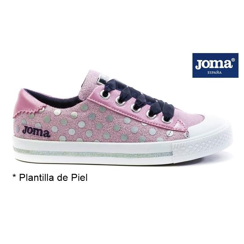 Joma Press Zapatilla De Niña Con Cordones.
