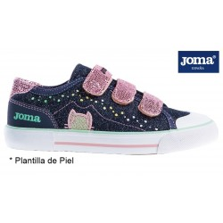 Joma Press Zapatilla Lona Niña Con Velcros.