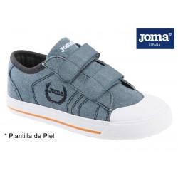 Joma Revel zapatilla Lona Niño Con Velcros.