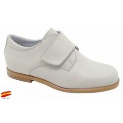 Zapato De Niño Piel Beig Comunión-Ceremónia