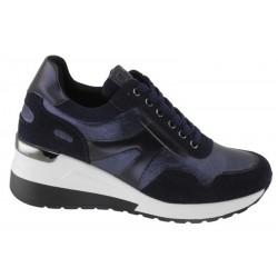 Sneaker Mujer Doble Cuña Azul. D'Angela