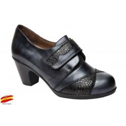 Zapato Mujer Confort Piel Ancho Especial Licra y Plantilla Extraible. Fiorella