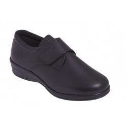 Zapato Velcro Anatómico Piel Azul. D'chus.