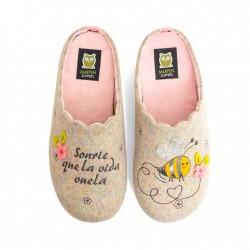 Zapatillas de Mujer Invierno Sonrie Que La Vida Vuela. Marpen