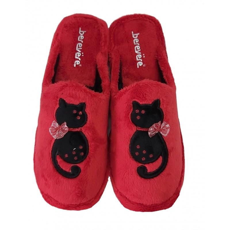 Zapatilla Invierno Mujer Gato. Berevere.