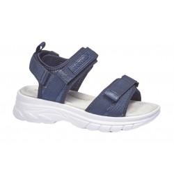 Sandalia Niña Tiras Velcro Marino. Crecendo