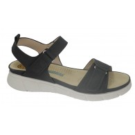 Sandalia Velcros Mujer Cómoda Negro. Amarpies