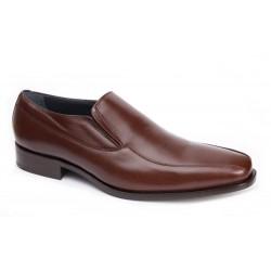 Zapato Todo Piel Caoba Ancho Especial 10 . Almansa