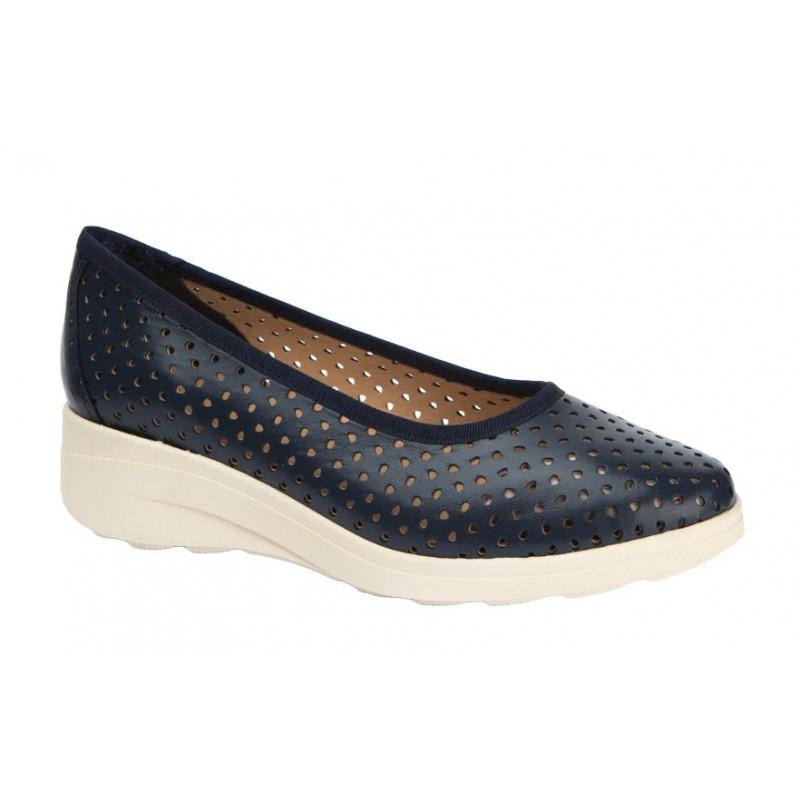 Zapato Cómodo Piel Marino Calado. Maxi Confort