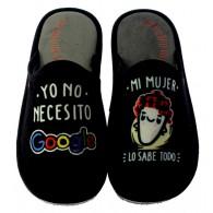 """Zapatillas Casa Invierno Hombre """"Yo No Necesito Google"""". Se Me Ríen Los Pies"""