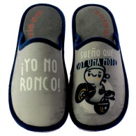 """Zapatillas Casa Invierno Hombre """"Yo no Ronco"""". Se Me Ríen Los Pies"""