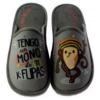 """Zapatillas Casa Invierno Hombre """"Tengo un mono de ti k flipas"""". Se Me Ríen Los Pies"""