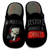 """Zapatillas Casa Invierno Hombre """"No molestar, estoy jugando fornite"""". Se Me Ríen Los Pies"""