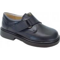 Zapato Colegial Velcro Niño Todo Piel .