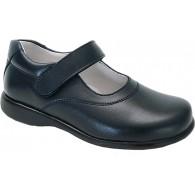 Zapato  Colegial Velcro Niña Todo Piel .