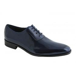 Zapato Novio-Ceremonia de Vestir para Hombre Piel Charol Marino.