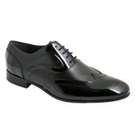 Zapato de Hombre de Vestir Novio-Ceremonia en Piel Charol Negro.