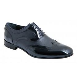 Zapato Novio-Ceremonia de Vestir de Hombre en Piel Charol Marino.