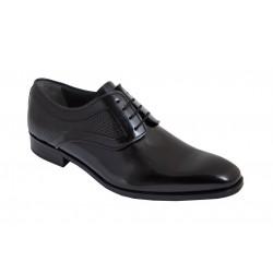 Zapato Caballero Elegante Gran Calidad Todo Piel Florentic Negro.