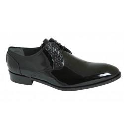 Zapato de vestir de Novio-Ceremonia Piel Charol Negro.