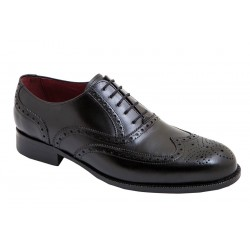 Zapato Oxford Elegante Todo Piel Negro. Almansa.