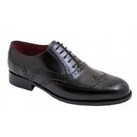 Zapato de Hombre Oxford Elegante Todo Piel Negro. Almansa.