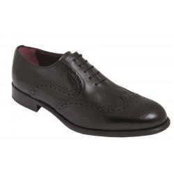 Zapato Blucher Hombre Elegante Todo Piel Negro. Almansa.