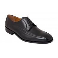 Zapato Almansa Ancho 12 Especial  Todo Piel Negro. Fenatti