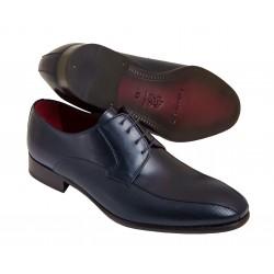Zapato Elegante Piel Grabada Azul. JR Almansa