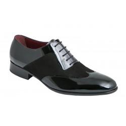 Zapato Hombre Piel Charol y Ante . Jr Almansa