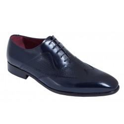 Zapato de Vestir para Traje de Hombre Azul Elegante Piel Florentic Azul . Almansa