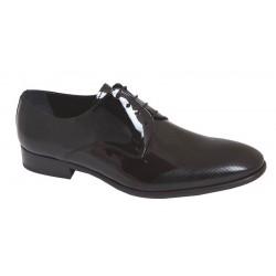 Zapato Novio Piel Charol Negro. JR Almansa. Calzado de Vestir de Hombre