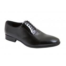 Zapato de Hombre Elegante color Negro. Todo Piel Charol . Jr Almansa