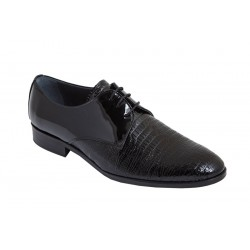 Zapato Novio-Ceremonia Piel Charol Pala Grabada. Fenatti