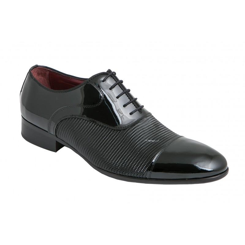 Zapato elegante Novio Piel-Grabado Charol.