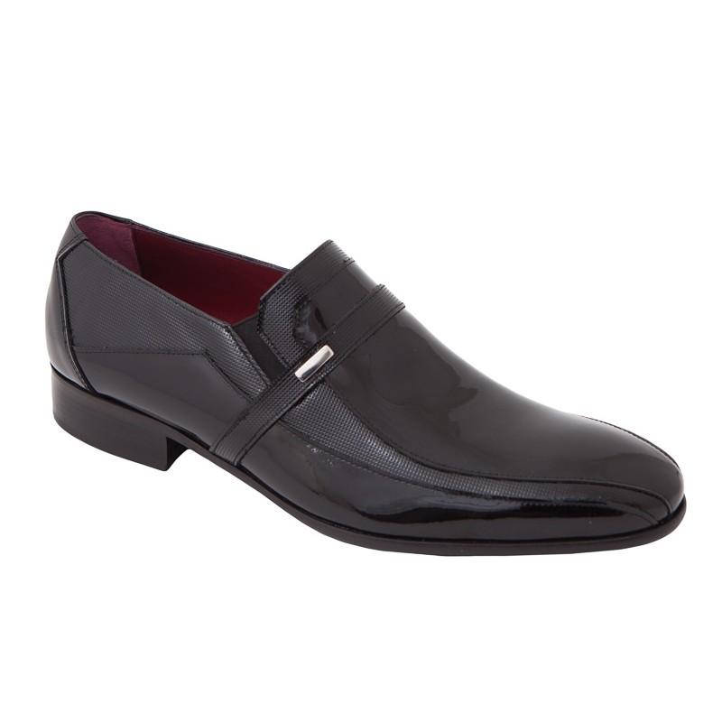 Zapato Novio Piel Charol Negro. Jr Jimenez