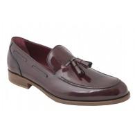 Zapato de vestir de Hombre Elegantes Piel Burdeos con Borlas.