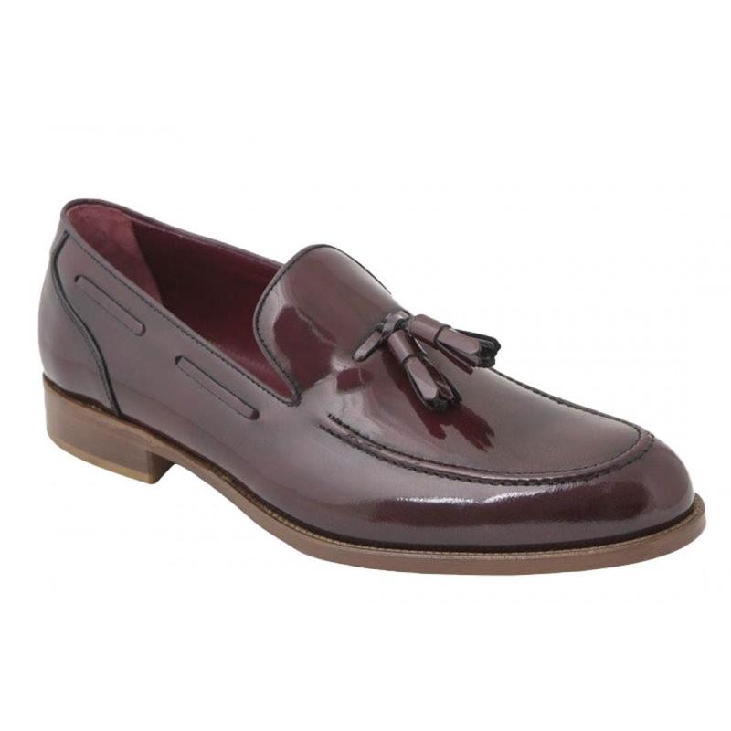 Zapato de Vestir con Borlas Piel Burdeos.JR Jimenez