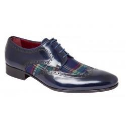 Zapato Almansa Elegante de Vestir Azul. JR Jimenez