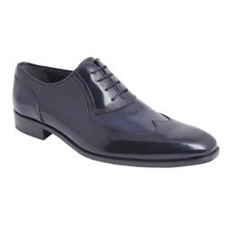 Zapato Piel Florentic Negro-Azul. Fenatti