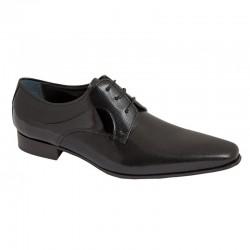 Zapato Novio Piel Charol Negro Mil Puntos. Fenatti