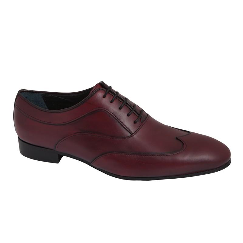 Zapato de Vestir Piel Burdeos.Fenatti