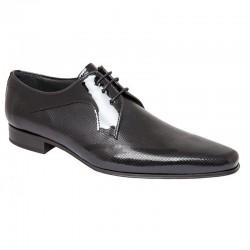 Zapato Novio Ceremonia Piel Charol Negro. Fenatti