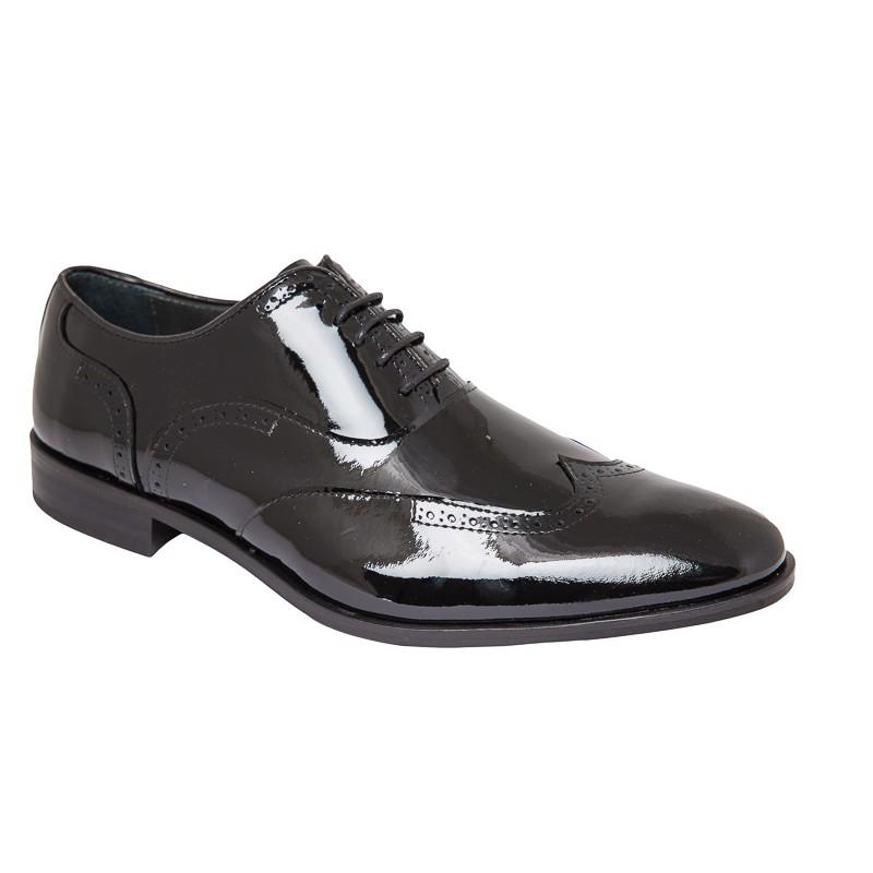 Zapato Piel Charol Negro. Fenatti