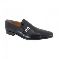Zapato Piel Charol Negro Mil Puntos. Fenatti