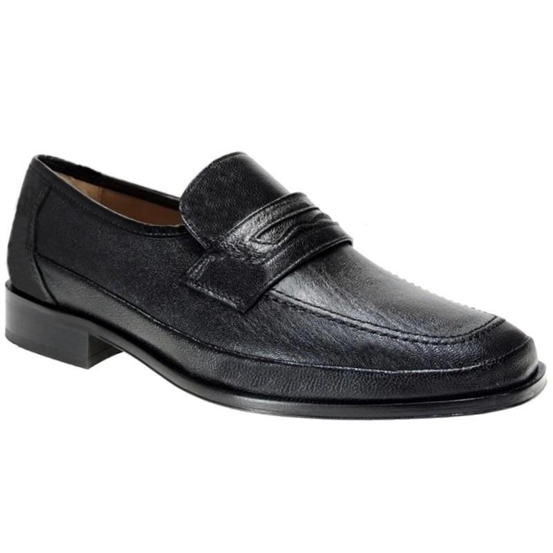 Zapato Piel Ancho Especial 12 Negro. Fenatti