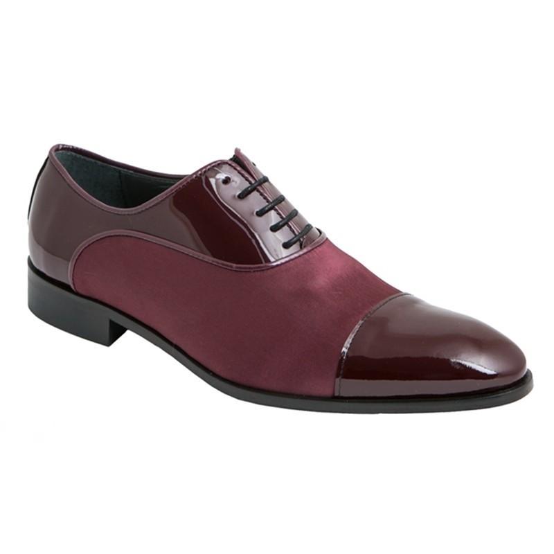 Zapato Novio-Ceremonia Piel Charol y Raso.